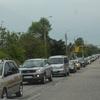 По улице Чкалова большая пробка из-за аварии