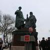 В Керчи открыли памятник князю Глебу и игумену Никону