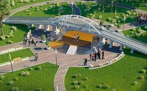 К концу ноября в Комсомольском парке установят копию Крымского моста