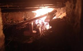 На пожаре в Щелкино умер мужчина