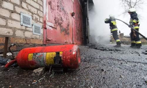 В Ленинском взорвались баллоны с газом
