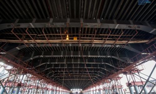 Строители приступают к установке арочных сводов Керченского моста