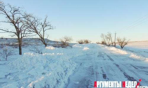 Дорогу на Курортное расчистили, но кататься там все равно опасно