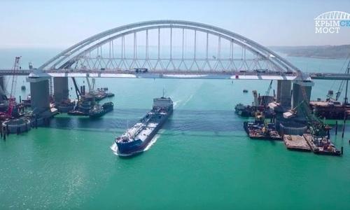 Киев прокомментировал открытие моста в Крым