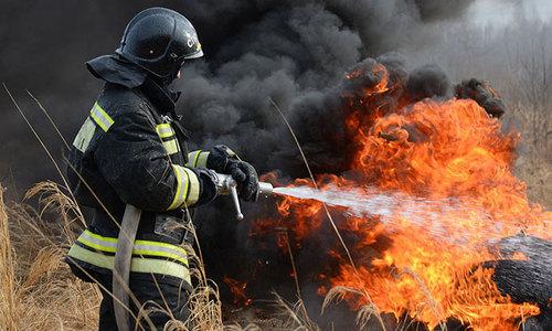 Возле Багерово горело 10 гектаров поля
