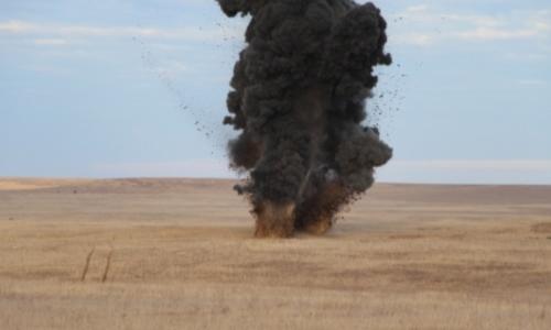 В селе Ленинского района нашли 20-килограммовую бомбу