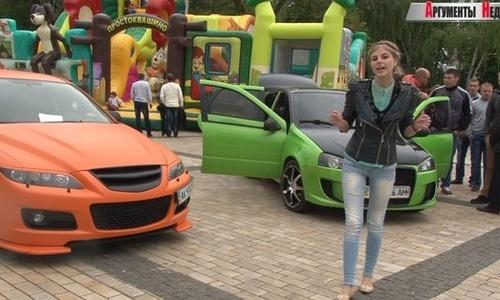 Керчанам показали тюнингованные автомобили