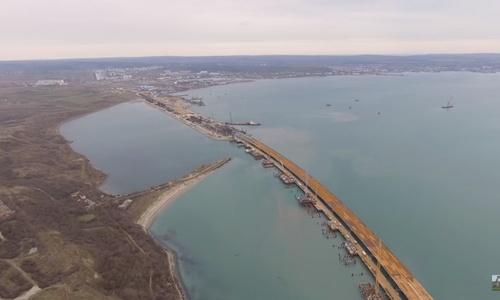 Появилось новое видео со строительства Керченского моста