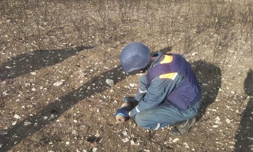 В Ленинском районе взорвали авиабомбу