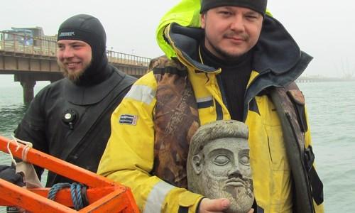 Найденная в Крыму терракотовая голова могла быть украшением корабля