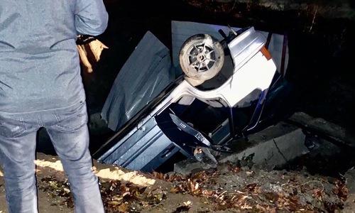 В Керчи машина попала в «ловушку» водоканала