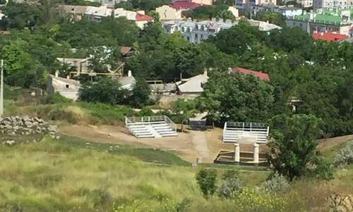 В Керчи установили трибуны для церемонии открытия «Боспорских Агон»